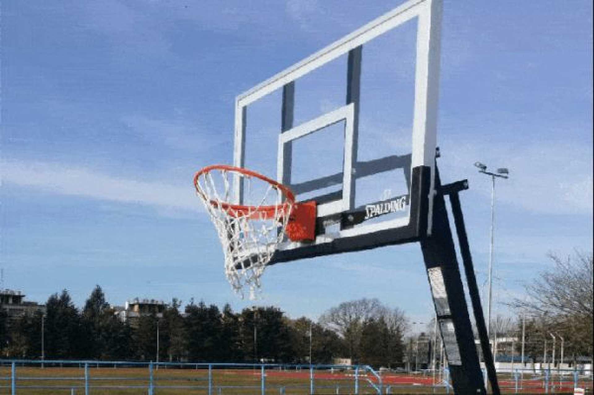 Megrongált kosárlabdapalánk