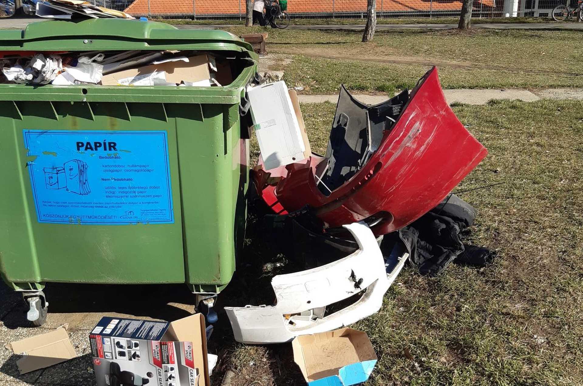 Szelektív hulladékgyűjtés a Rohoncin