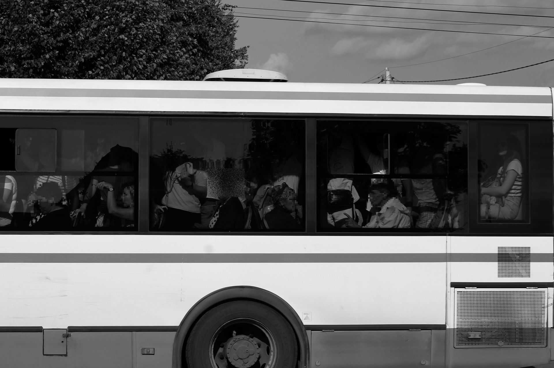 Zsúfolt busz