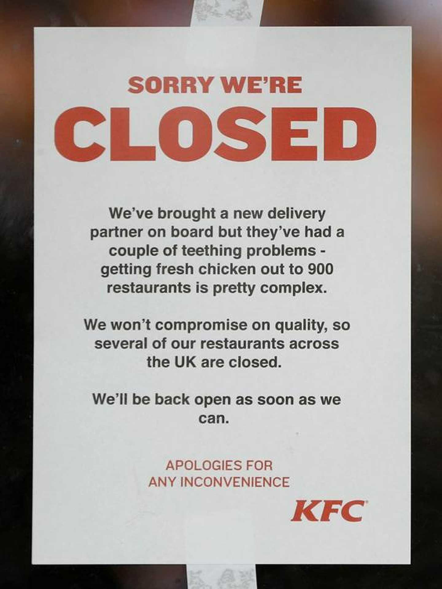KFC válság