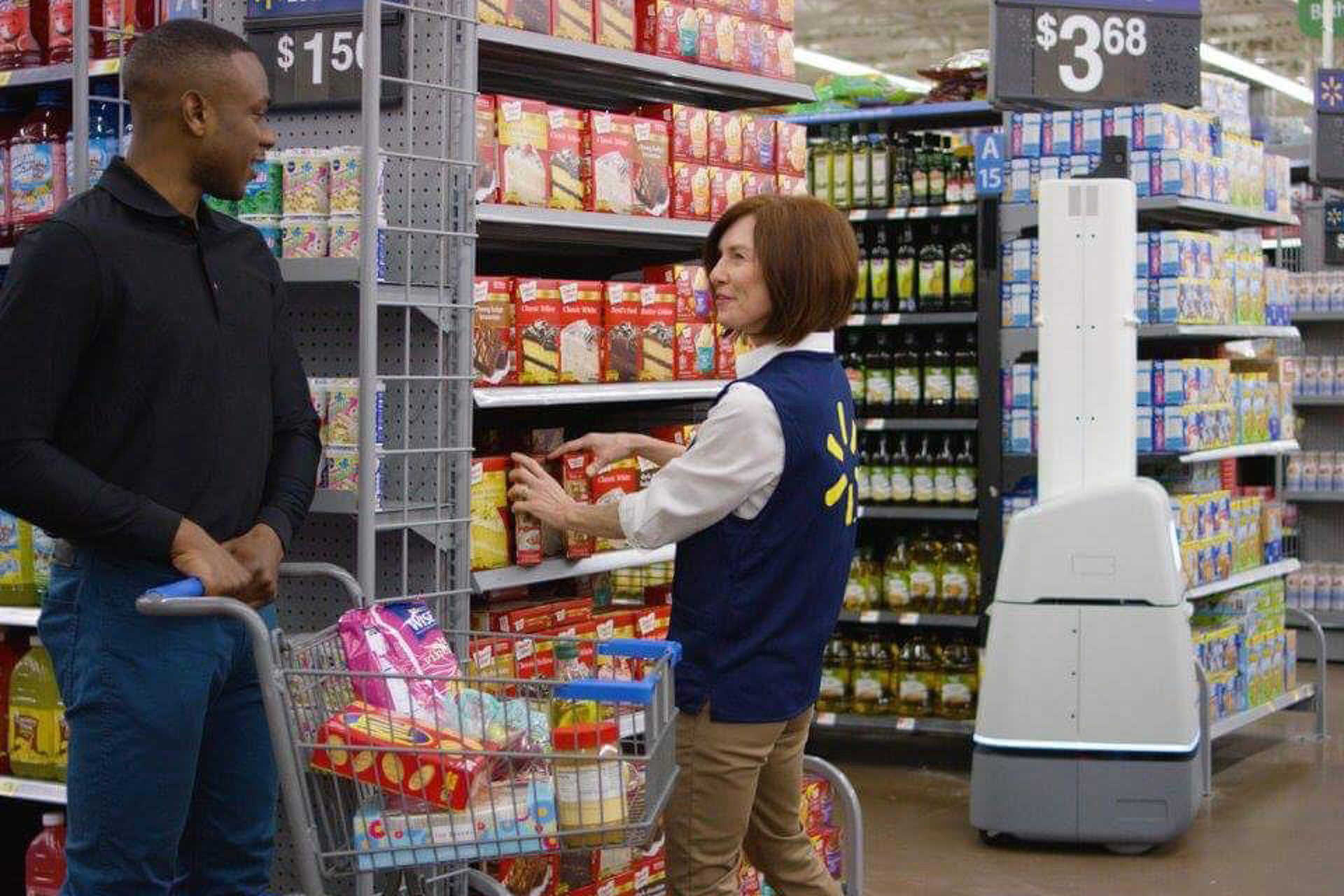 Robotok a Walmartban