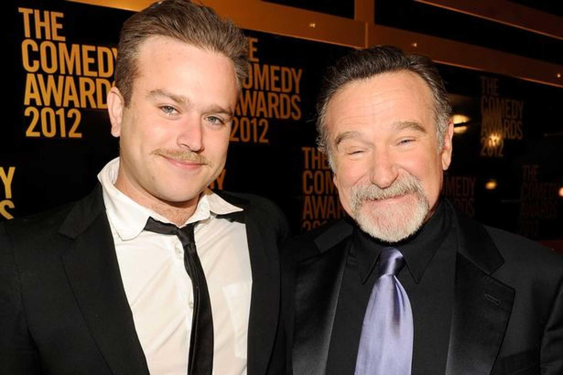 Robin Williams és fia, Zak 2012-ben