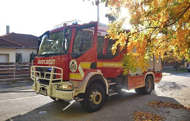 Ismét gumi égett a Minerva lakópark mellett, Szombathelyen