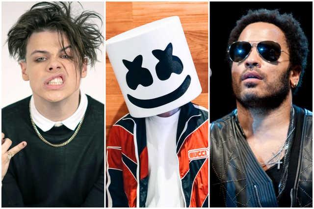 Yungblud, Marshmello, Lenny Kravitz a Volton