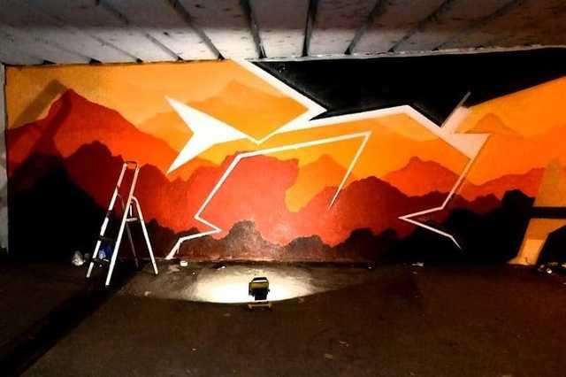 Befejezték a biciklis aluljáró festését a kétfarkúak