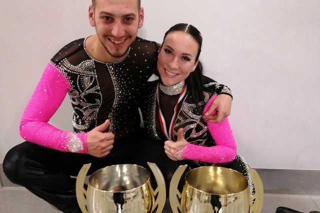 Lakics Zoltán és Lakicsné Haramia Nikolett a Couple Dance Show Párosok Világkupa versenyén