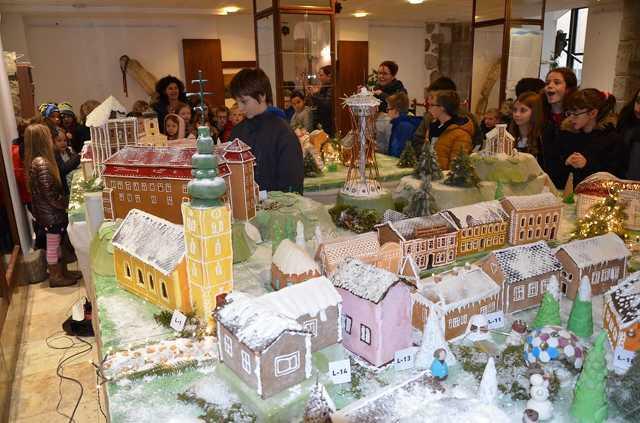 Mézeskalács épületek kiállítása Szentgotthárdon