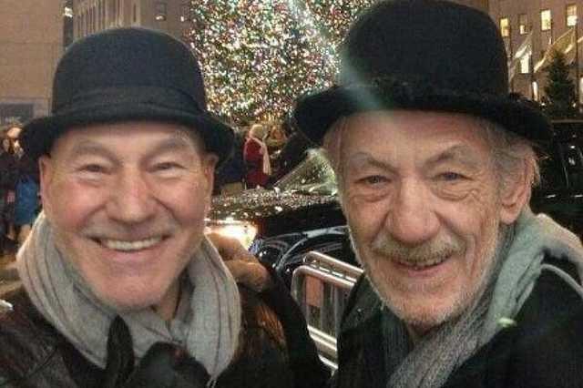 Patrick Stewart és Ian McKellen