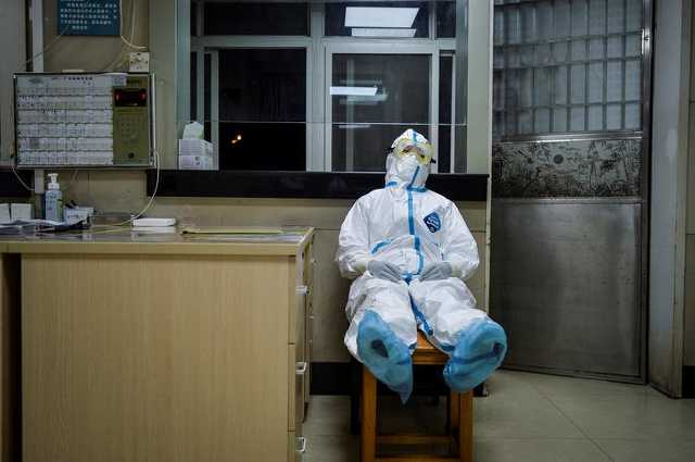 Kórház, koronavírus, Vuhan