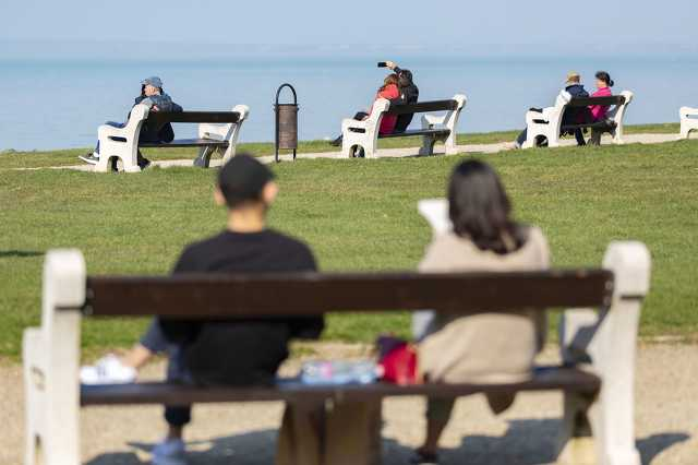 Tavaszias meleg Siófokon 2020. március 18-án