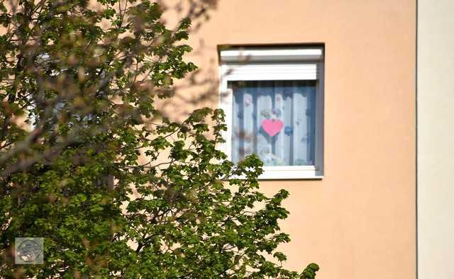 Napfényes karantén reggel Szombathely egyik lakótelepén