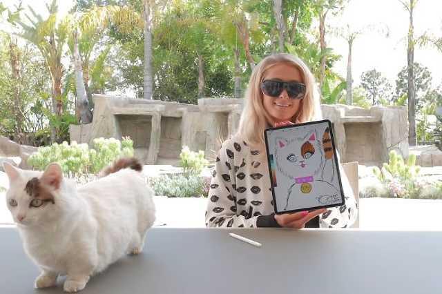 Paris Hilton művészkedik
