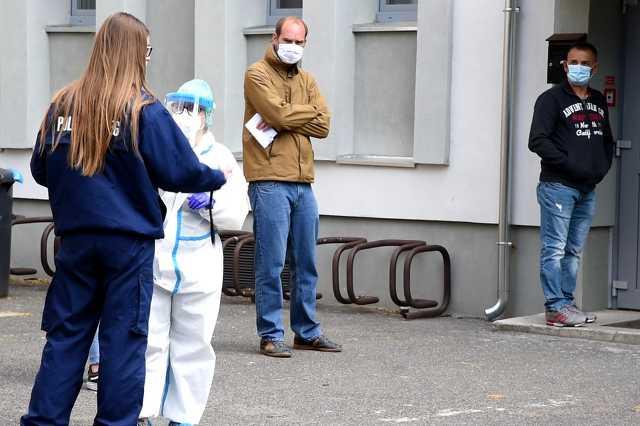 koronavírus teszt a sportházban
