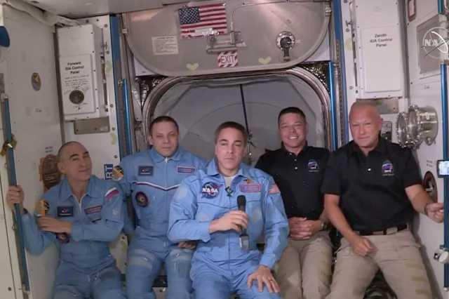 A Crew Dragon űrhajósai a Nemzetközi Űrállomáson