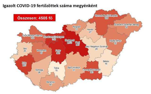 Koronavírus térkép 07.31.