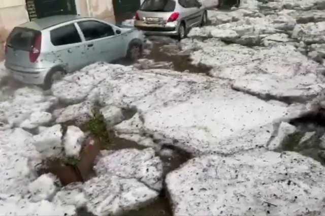 Jégvihar Észak-Olaszországban