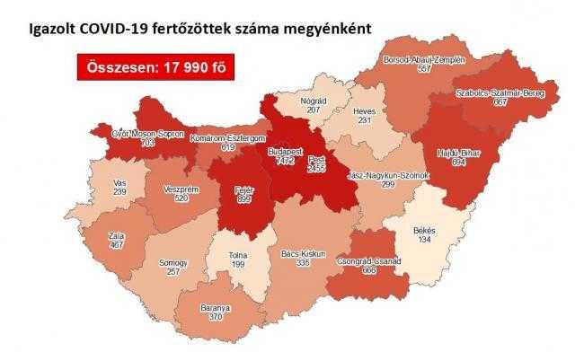 Covid térkép, 09.20.