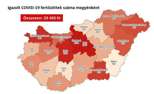 Koronavírus térkép 09. 23.