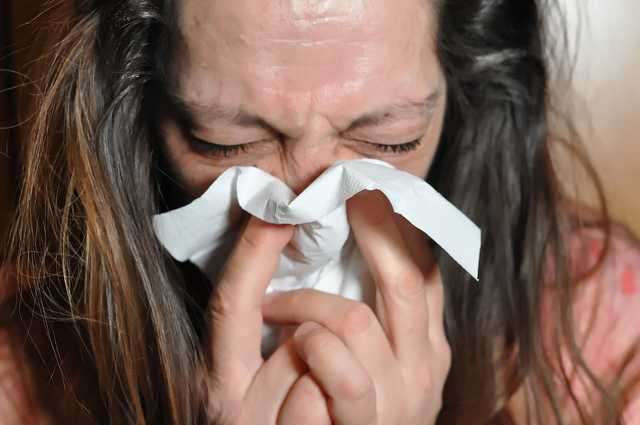 influenza, orrfújás