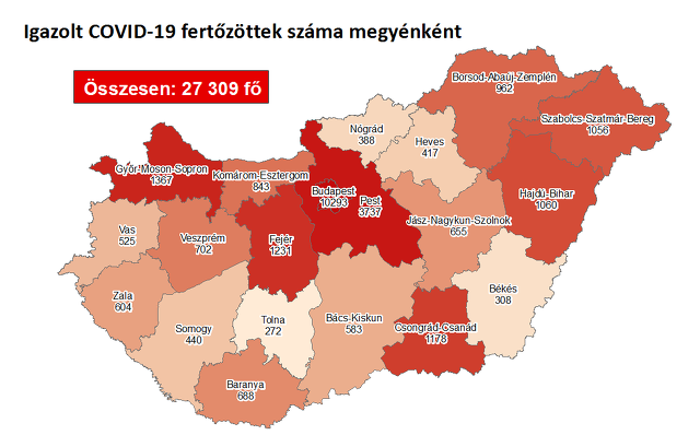 Koronavírus térkép 10.01.
