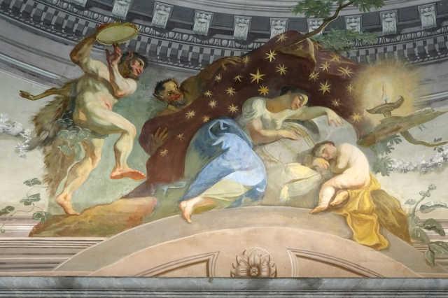 Felújított freskó a Püspöki Palotában
