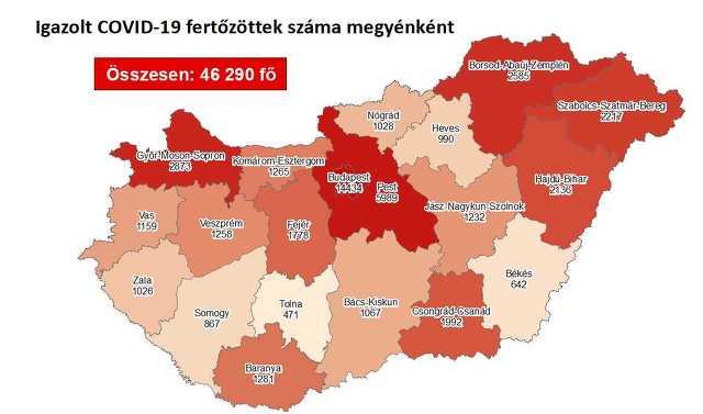 Koronavírus térkép 10. 18.