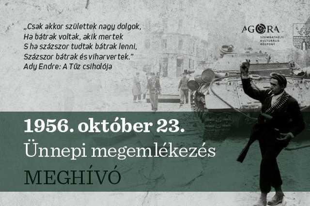 2020. október 23-ai megemlékezés Szombathelyen