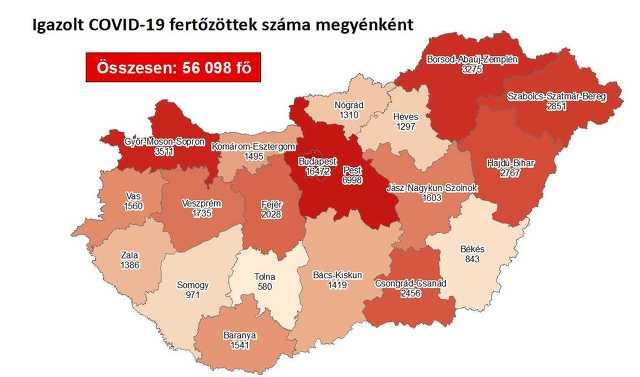 Koronavírus térkép 10. 24.