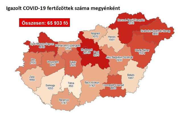 Koronavírus térkép 10. 28.