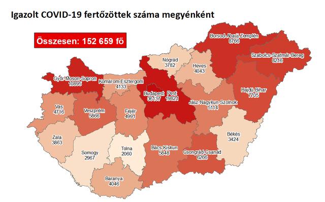 Koronavírus térkép 11.17.