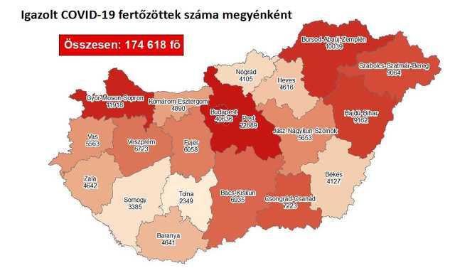Koronavírus térkép 11. 22.