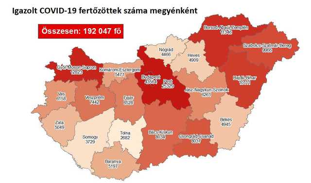 Koronavírus térkép 11. 26.