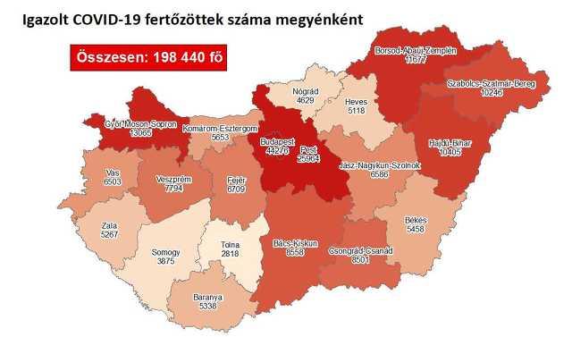Koronavírus térkép 11.27.