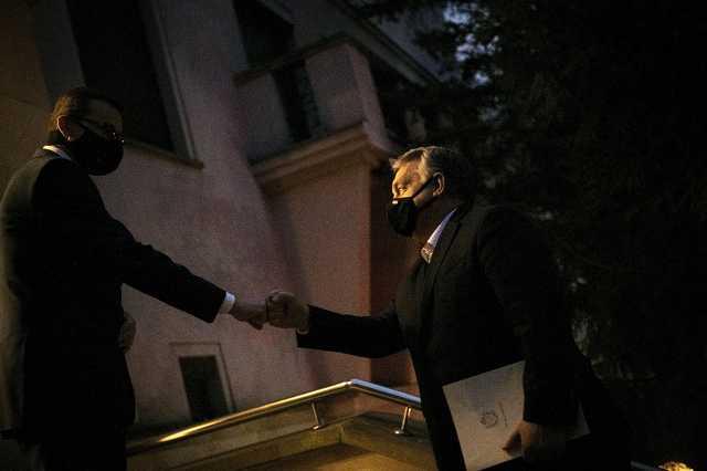 Orbán Viktor és Mateusz Morawiecki lengyel kormányfő