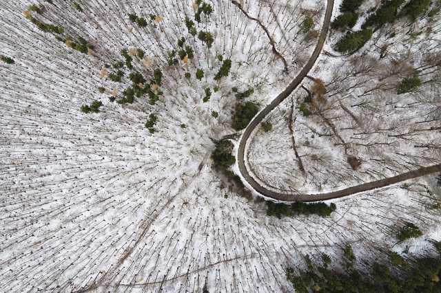 Madártávlatból is csodás a hó borította Kőszegi-hegység
