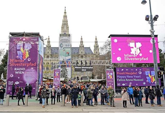 Tavaly 800 ezren köszöntötték az új évet Bécs belvárosában, a Szilveszteri Ösvényen