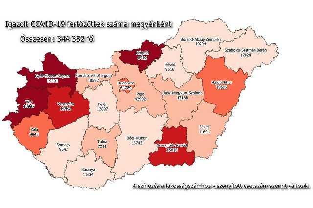 Koronavírus térkép 01.12.