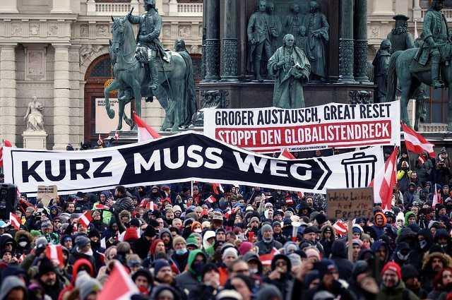 Bécsi Covid-tüntetés