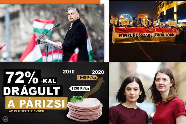 Politikai instagram képek kollázs