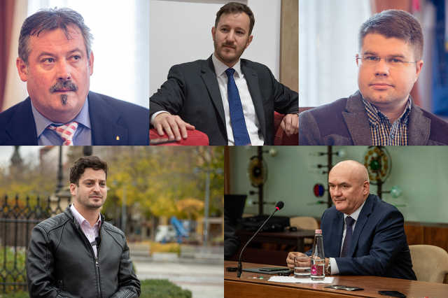 Ágh Péter, Bana Tibor, Hende Csaba, V. Németh Zsolt, Ungár Péter montázs
