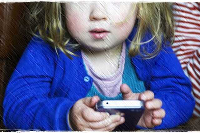 Gyerek, telefon, mobil