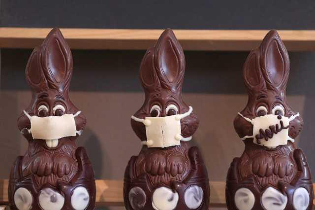 Csokinyúl maszkban