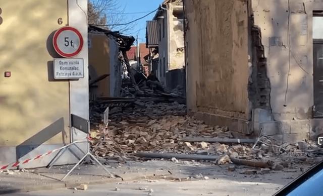 Több épület is megrongálódott Zágrábban 2020. december 29-én