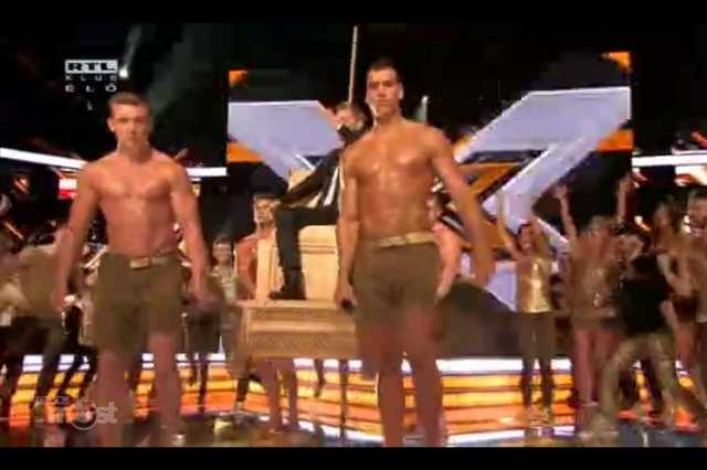 Meztelen férfiak az X-Faktorban