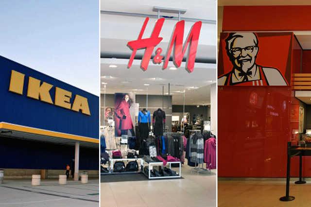 A top 3: Ikea, H&M és KFC