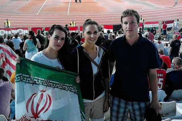 Bana Tibor, a Jobbik országgyűlési képviselője a Magyarország-Izrael labdarúgó-mérkőzésen