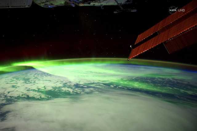 Sarki fény a Nemzetközi Űrállomásról