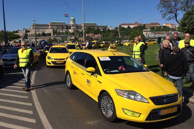 Taxis tüntetés Budapesten