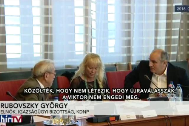 Rubovszky György (KDNP) a Hír TV kamerája előtt közölte, hogy a Viktor nem engedi, hogy Áder Jánost újraválasszák