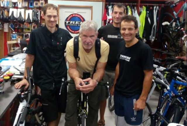 Harrison Ford egy pesti bicikliboltban